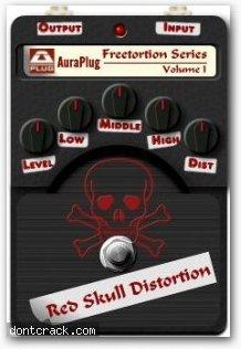 AuraPlug Red Skull Distortion