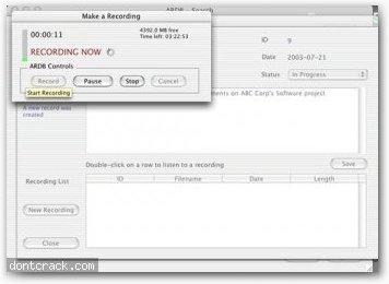 David Dahl Audio Recording Database