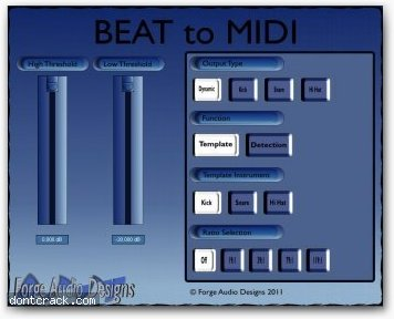 Forge Audio Designs BEAT to MIDI