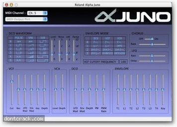 Xmidi Alpha Juno Control