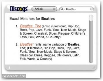 Another Discogs Widget Another Discogs Widget