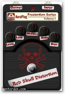 AuraPlug Red Skull Distortion