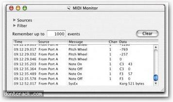 Snoize MIDI Monitor